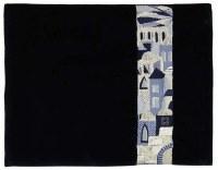 Tallis Bag Moryah Black Velvet Designed with Silver Embroidery