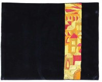 Tefillin Bag Moryah Navy Velvet Designed with Colorful Embroidery
