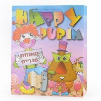 Purim Gift Bag Illustrated Colorful Design