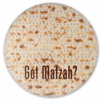 Pesach Glass Trivet Got Matzah? 8""