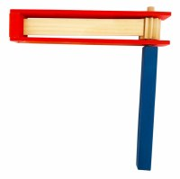 """Wooden Gragger Red and Blue Large 10"""" x 10"""""""