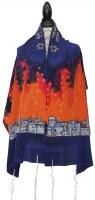 """Women Tallis Jerusalem Design Silk Sunset 20"""" X 72"""""""