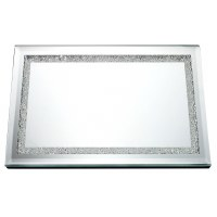 "Mirror Tray with Crushed Glass Border 16.5"" x 11.8"""