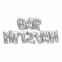 Silver Bar Mitzvah Balloon