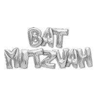 Silver Bat Mitzvah Balloon