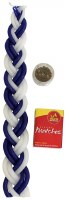 Havdallah Candle Set Blue and White Includes Spices and Matches 10""