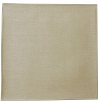 "Square Vinyl Charger Beige 15"" x 15"""