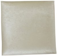 "Square Vinyl Charger Beige Marble Design 15"" x 15"""