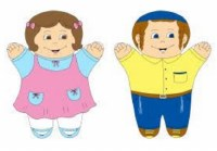Hand Puppet Boy and Girl