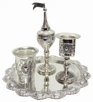 Havdalah Set 4 Pieces Silver Plated