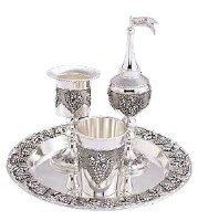Havdallah Set 4 Piece Grape Design
