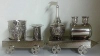 Havdallah Set Nickle Plated Train Style