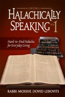 Halachically Speaking Volume 1 [Hardcover]