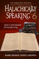 Halachically Speaking 6 [Hardcover]