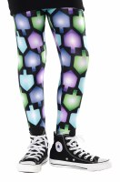 Hanukkah Leggings For Kids Dreidel Design Size Extra Small 5 - 6