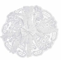 Ladies' Head Covering White Lace with Bow