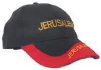 "Cap with ""Jerusalem"" Black and Red"