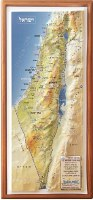 "Raised Relief Israel Map Magnet 4"" x 8"""