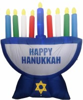 Inflatable Menorah Decoration with LED Lights 7ft