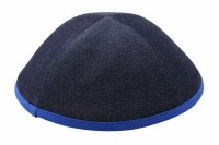 iKippah Denim with Royal Blue Rim Size 18cm