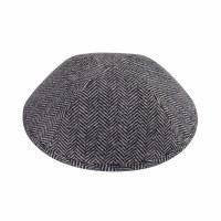 iKippah Gray Herringbone Size 4