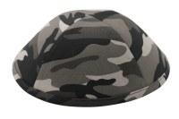 iKippah Gray Camouflage 18cm