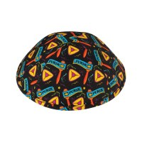iKippah Happy Purim Black Size 5