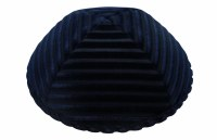iKippah Striped Velvet Navy Size 16cm