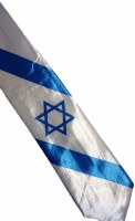 Israeli Flag Necktie with Star of David