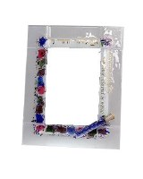 "Picture Frame Glass I am My Beloved's Floral Glass Tube Design 5"" x 7"""