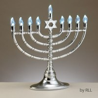 LED Electric Menorah with Clear Bulbs