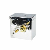 Money Box Frangipani Nickel Sprinkled/Gold