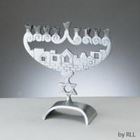 Candle Menorah Jerusalem Peaks Aluminum