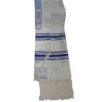"""Tallis Paz Kotel Rayon Size 18 Blue and Silver 18"""" x 72"""""""