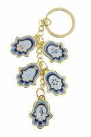 Key Chain Hamsa Charms Blue