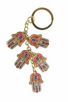 Key Chain Hamsa Charms Red