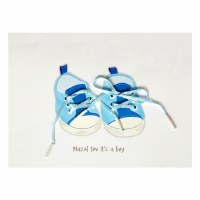 Card Baby Boy Pair of Shoes Design