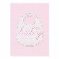 Greeting Card Baby Girl Pink Potpourri Design