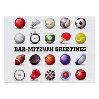 Card Bar Mitzvah Sports Design