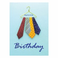Greeting Card Happy Birthday Assorted Ties Design