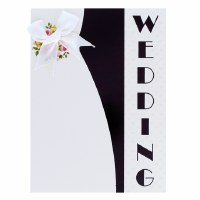 Card Wedding Black and White Lapel
