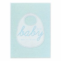 Card Baby Boy Bib Design