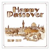 Passover Napkins Matzah City Print