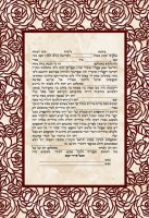Rose Cutout Frame Design Ketubah