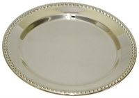 Kiddush Cup Tray Dotted Rim Design 4""