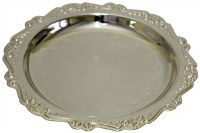 Kiddush Cup Tray Floral Design 6""