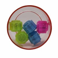 Chinese Kugelach Plastic Rounded Edges Set of 5 Colorful Cubes