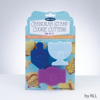 Chanukah Stamp Cookie Cutters - Set of 3