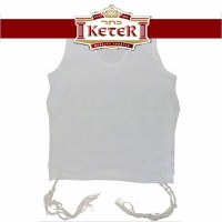Perf-Tzit Undershirt Tzitzis Keter Round Neck Size 18 (Mens XS) Chabad Avodas Yad Strings