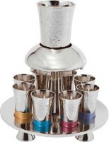 Yair Emanuel Hammered Metal Wine Fountain - Multicolor
